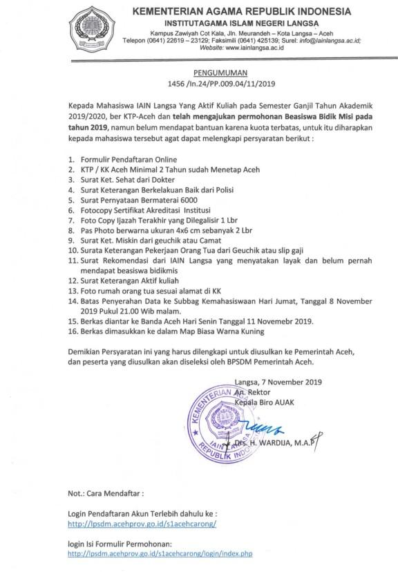 Beasiswa BPSM Aceh